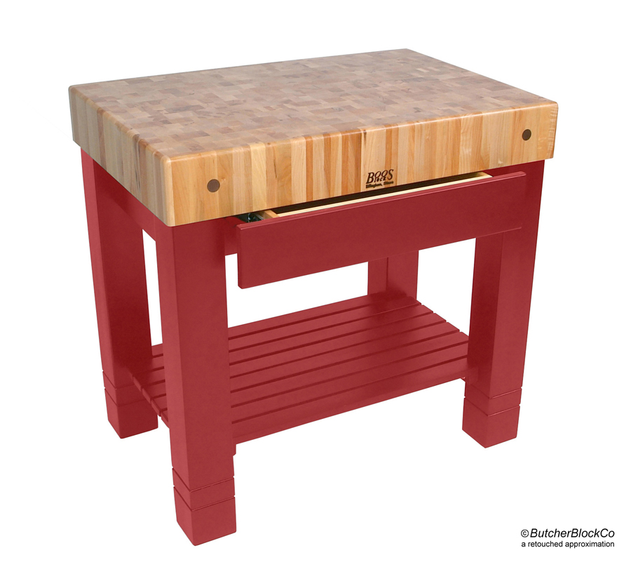 John Boos Maple Homestead Butcher Block - Barn Red