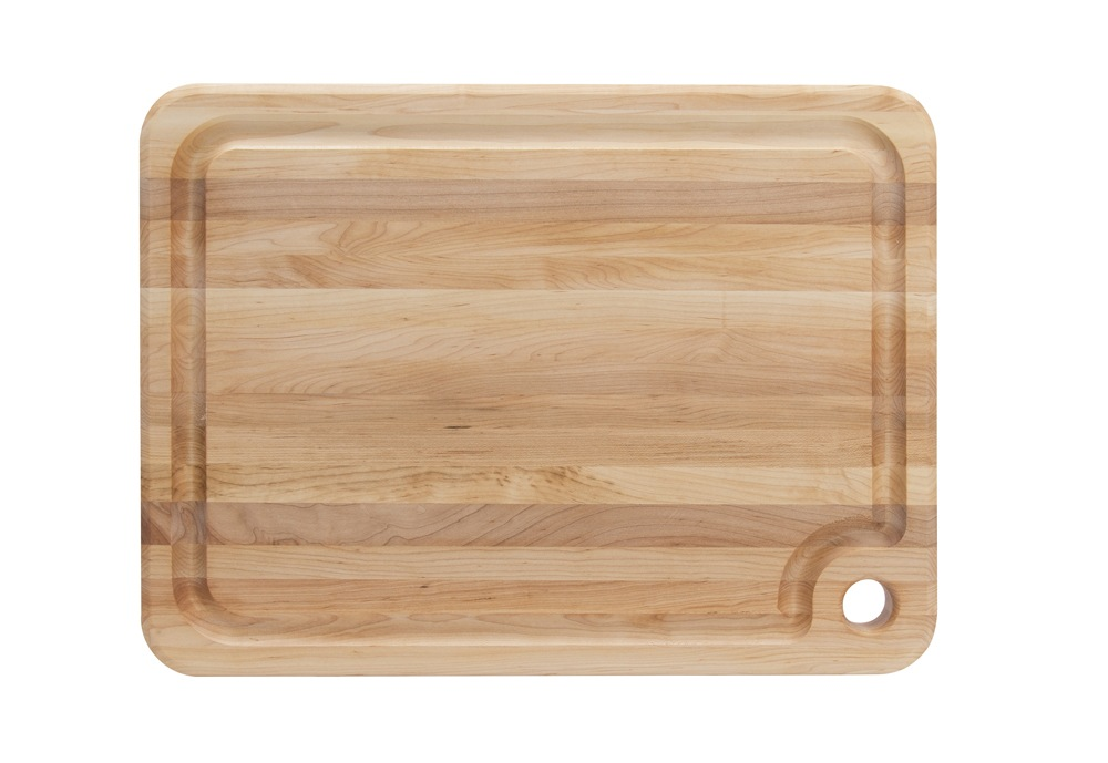 John Boos Maple Prestige Boards - Juice Groove & Finger Grip Hole - 5 Sizes