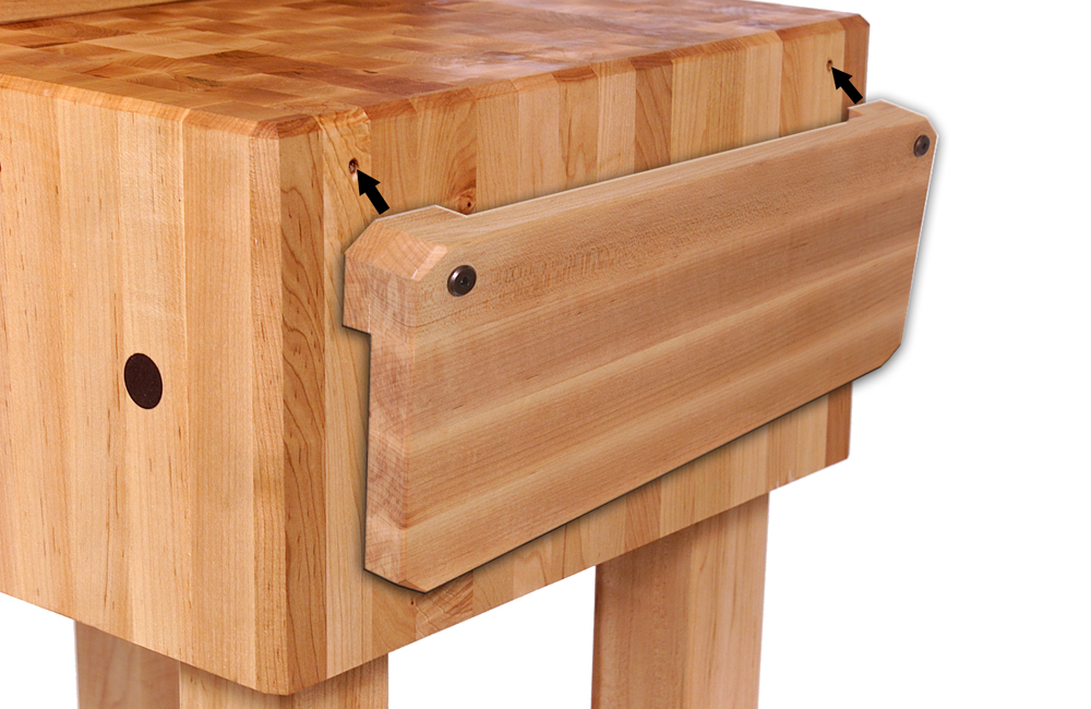 "John Boos ""PCA"" Block - 10"" Thick Butcher Block, Knife Holder, 5 Sizes"