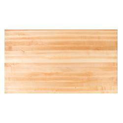 "John Boos 36"" W Rectangle Maple Edge Grain Butcher Block Table Top"