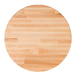 John Boos Round Blended Maple Dining Table Tops & Bases (Optional)