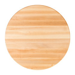 John Boos Round Maple Edge-Grain Dining Table Tops & Bases