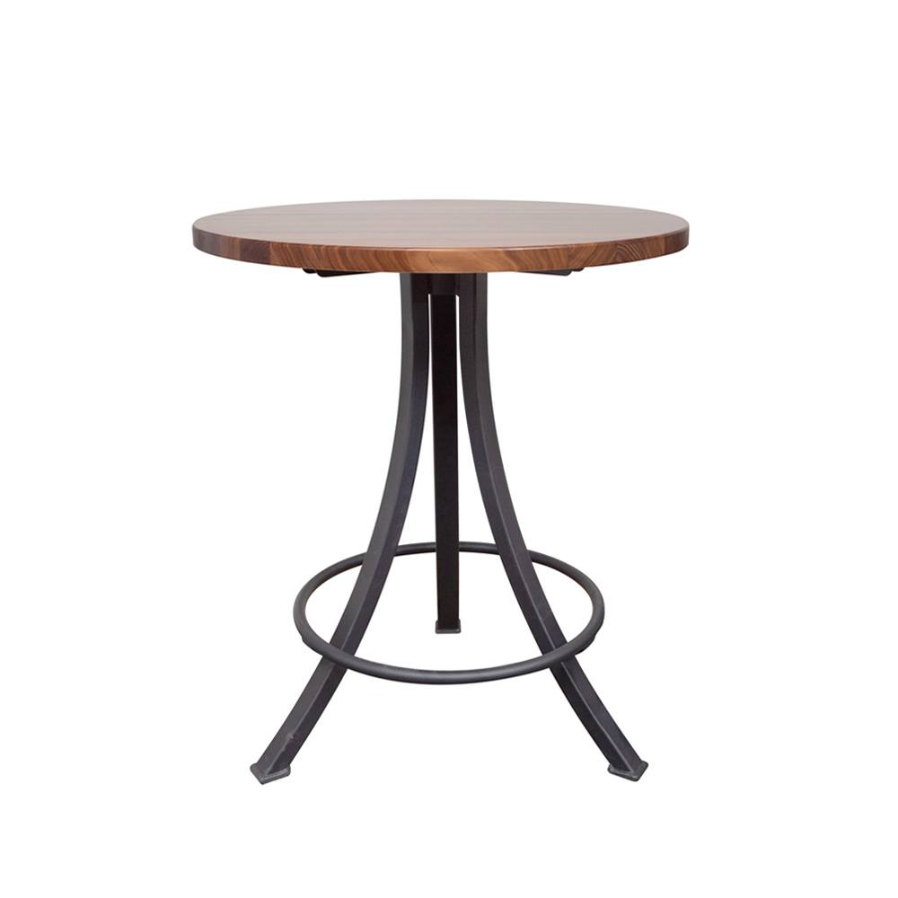 Walnut Round Dining Table Bar Table Foundry Collection