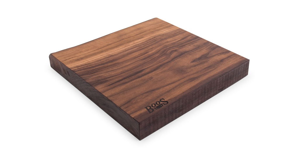Boos Reversible, Rustic-Edge Design Walnut Cutting Boards – 3 Sizes