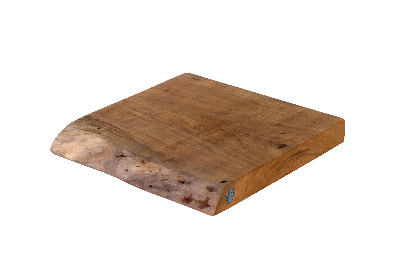 Wood Edged Board ~ Live edge natural wood slab cutting board