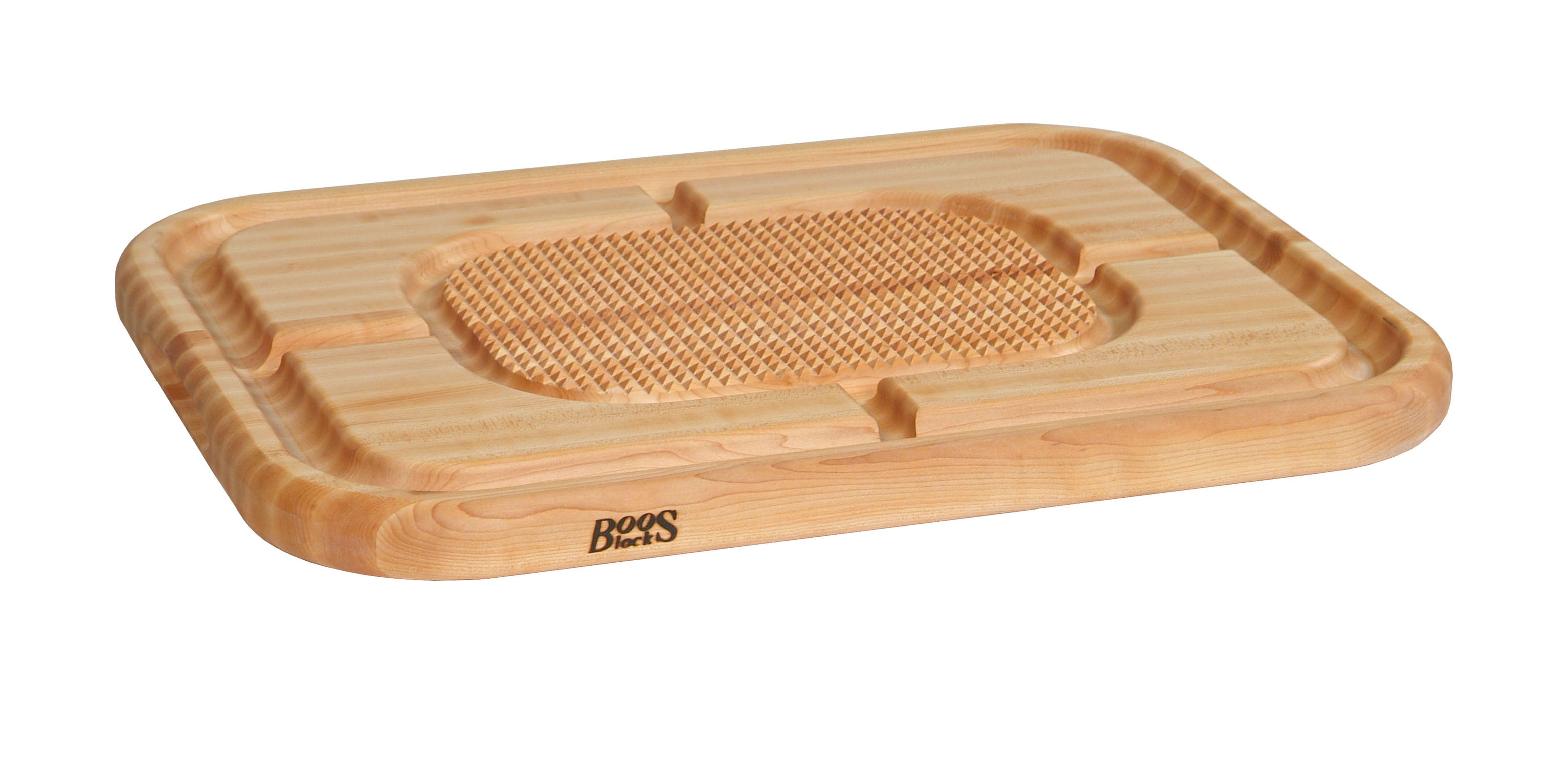 John Boos Maple Carving Board with Pyramids and Grooves