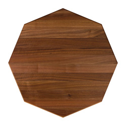 john boos walnut edge grain octagonal dining table top