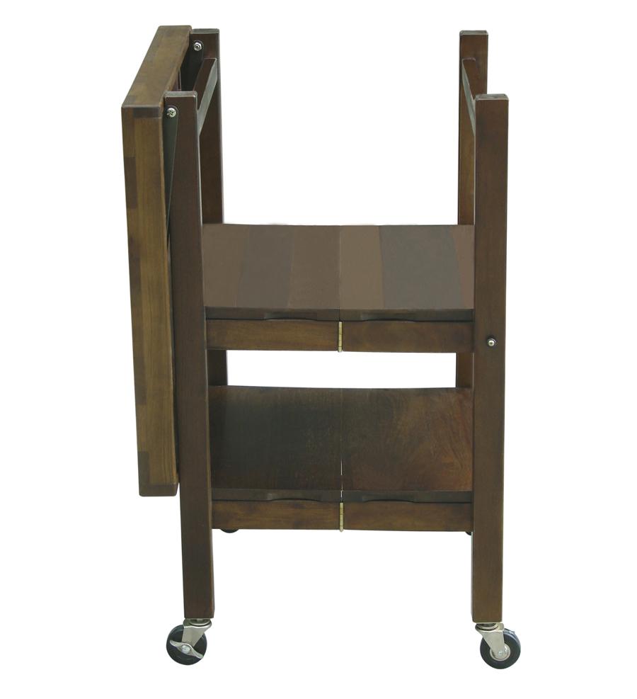 Oasis Concepts Walnut-Finish 3-Tier Folding Cart – 24