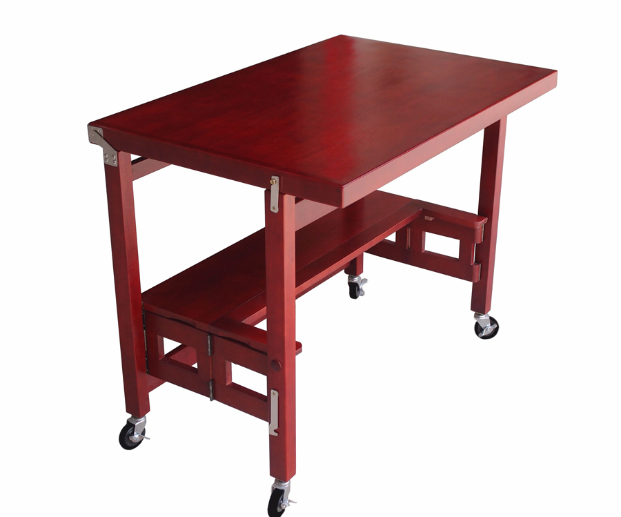Oasis Concepts Cherry-Finish Flip & Fold Kitchen Table - 36 x 24 x 29H
