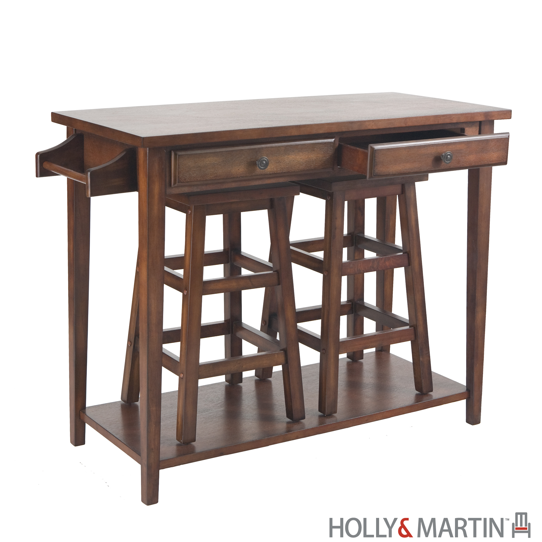 Dontos Industrial Kitchen Cart Southern Enterprises: Breakfast Bar And Stools