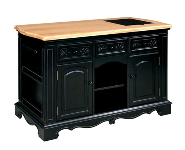 Pennfield Island with Wood Top and Granite Inlay