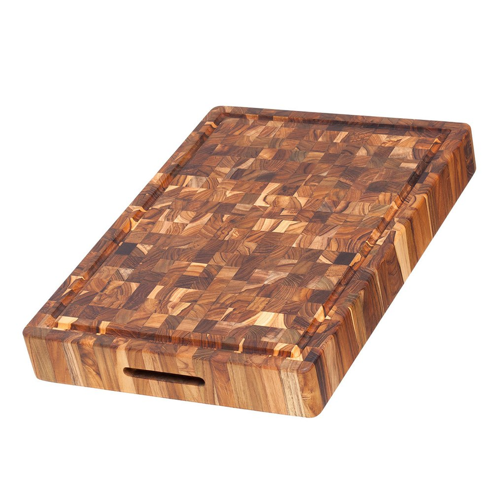 Teak Haus End-Grain Teak Chopping Block w/ Juice Canal - 20