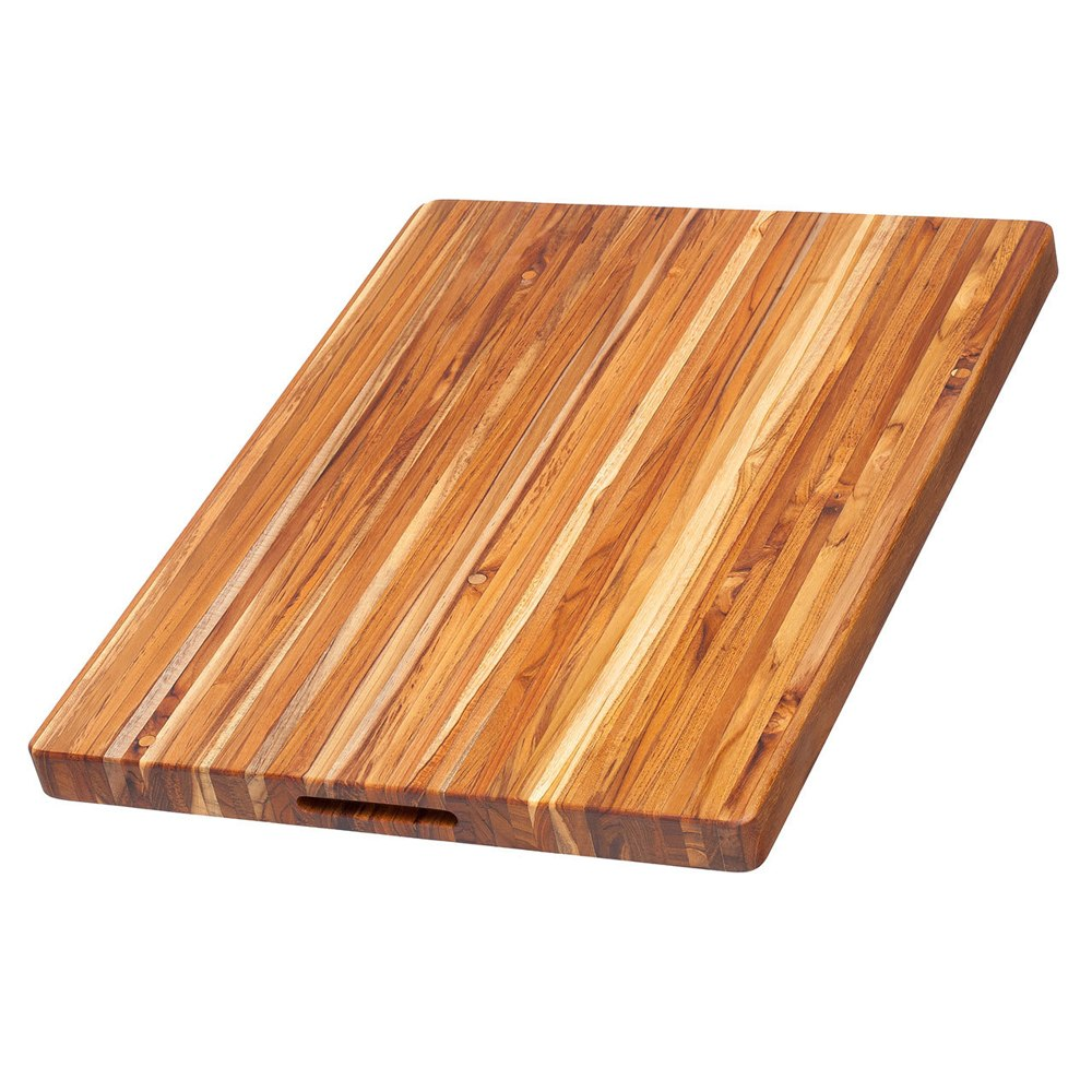 Teak Haus Large, Edge-Grain Teak Cutting Board – 24