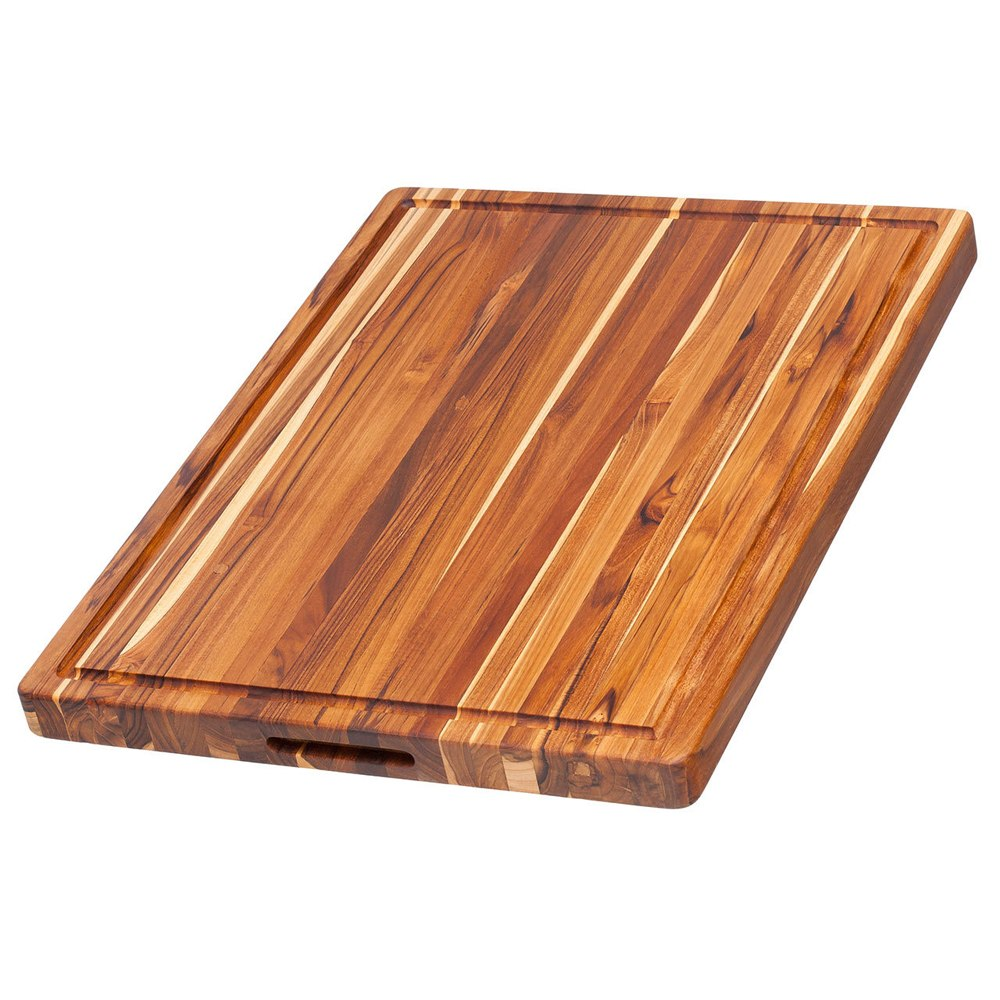Teak Haus Large Teak Carving Board with Juice Groove – 24