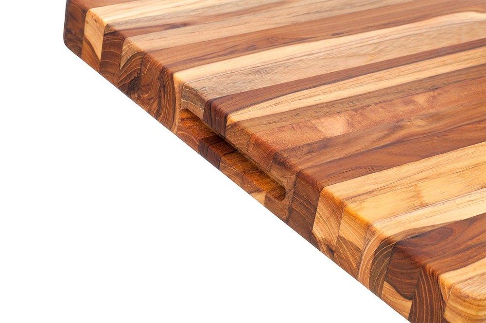 Teak Haus Medium, Edge-Grain Teak Cutting Board w/ grips – 20