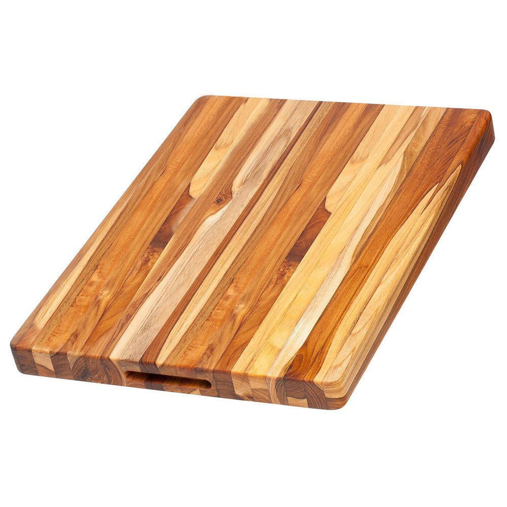Teak Haus Medium, Edge-Grain Teak Cutting Board w/ grips – 20
