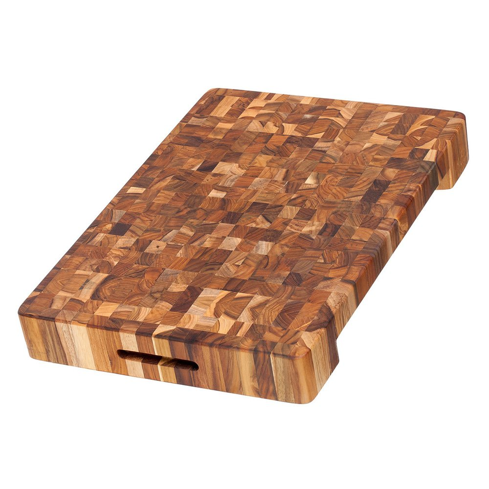 Teak Haus Teak Cutting Board with a Bowl/Board Cutout - 20
