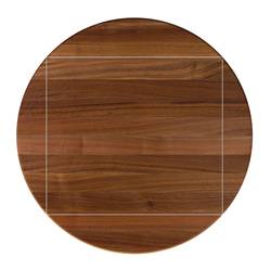 john boos walnut edge grain round dining table with drop leaves