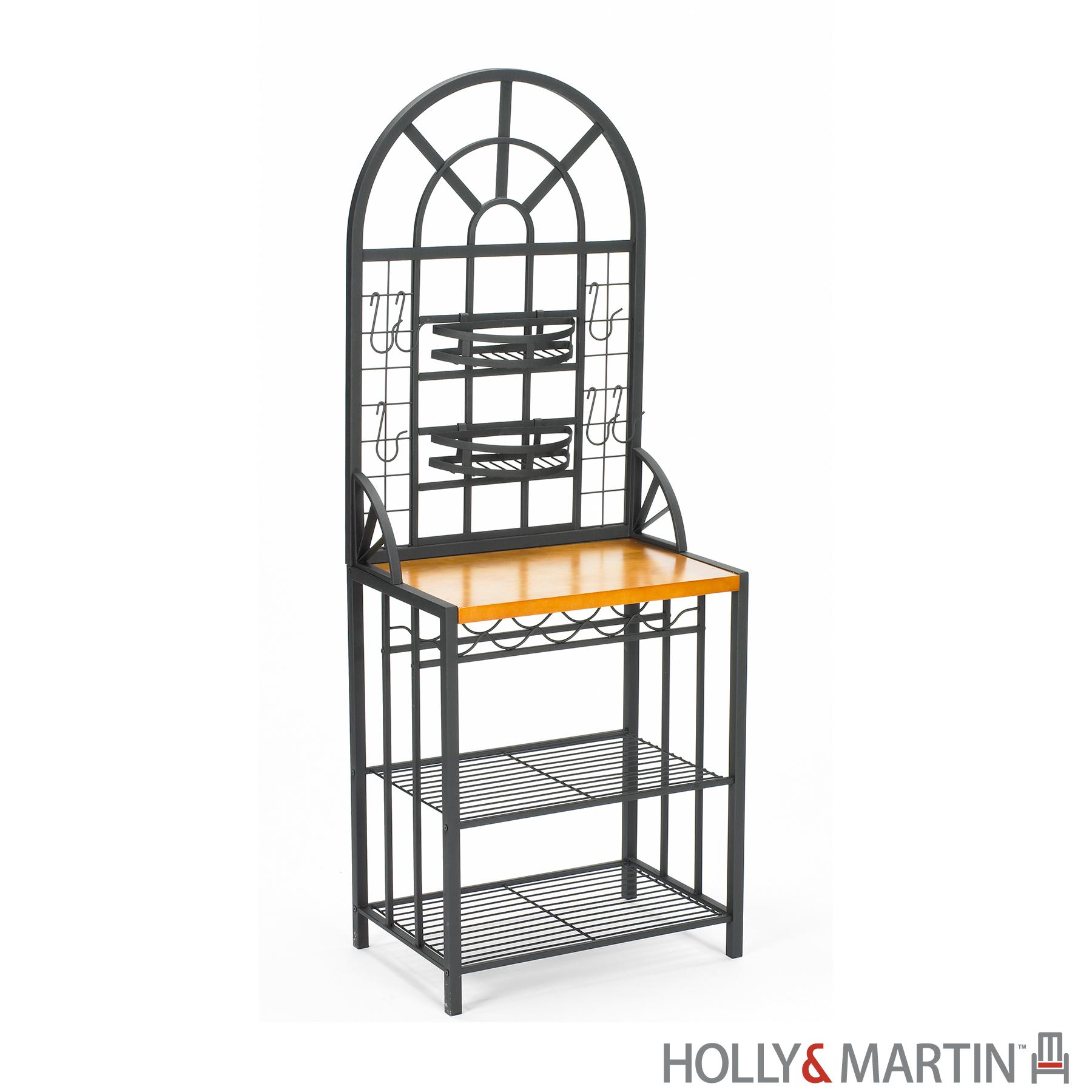 Holly & Martin's Summit Baker's Rack & Wine Rack Combo w/ Oak Counter