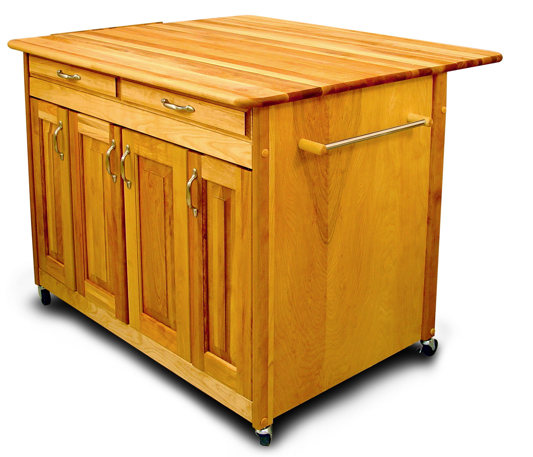 Movable Kitchen Islands Rolling on Wheels