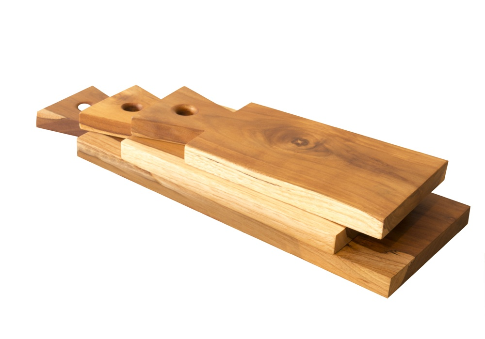 Three Teak Wood Boards for Cutting & Serving - by Nicahome of Nicaragua