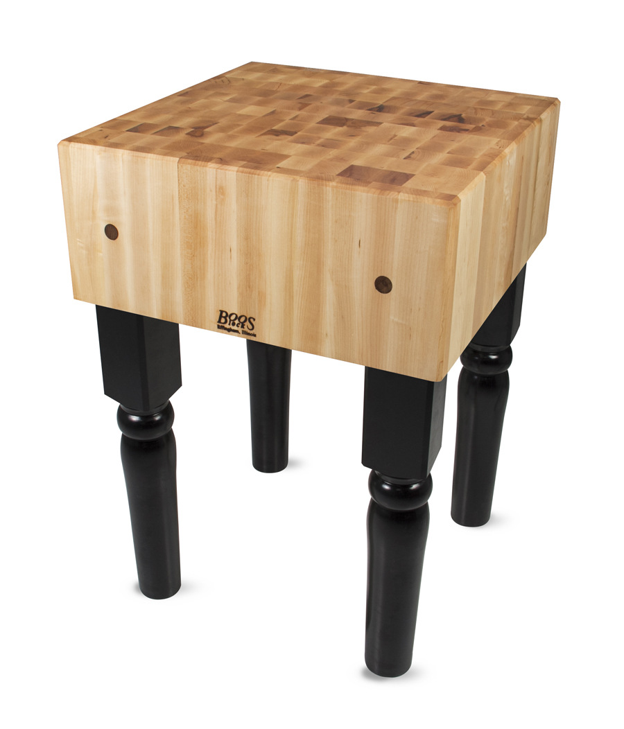 AB Butcher Block on Brown Legs