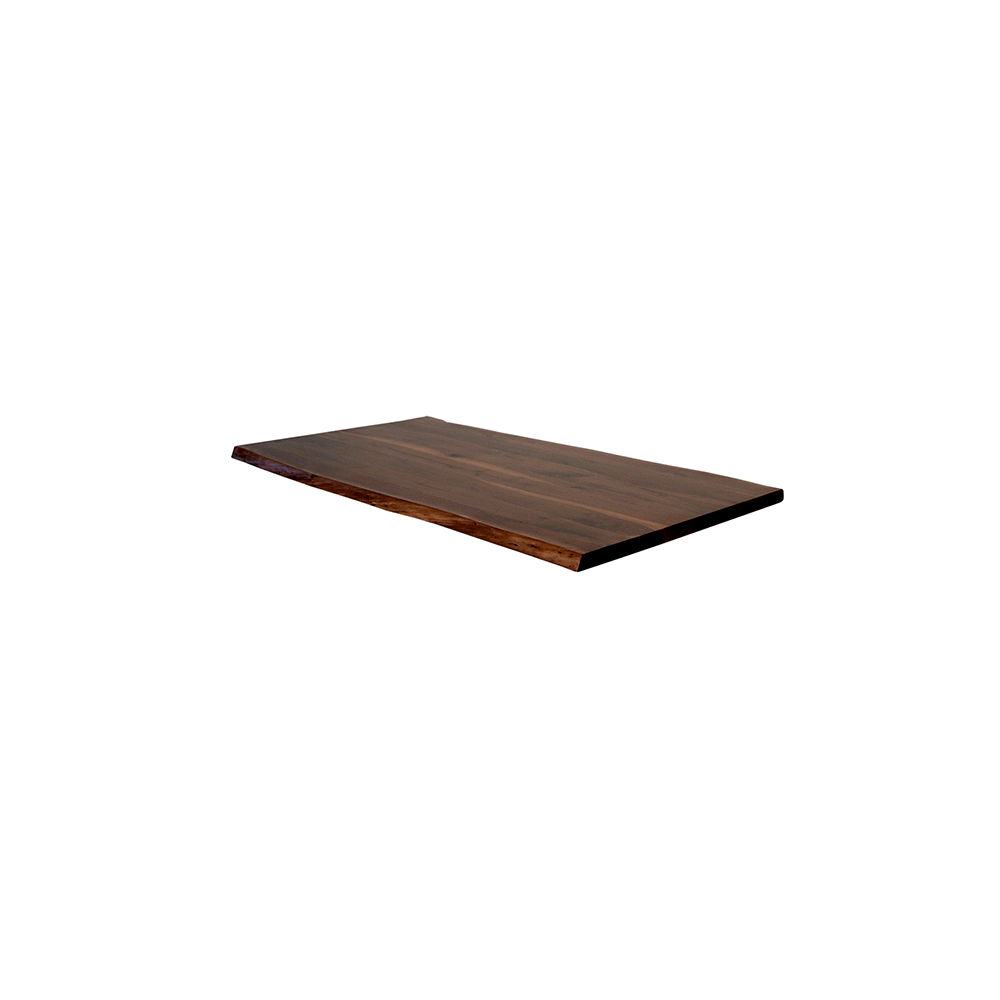 Plank-Style Walnut Live Edge Table Top #247 - 72