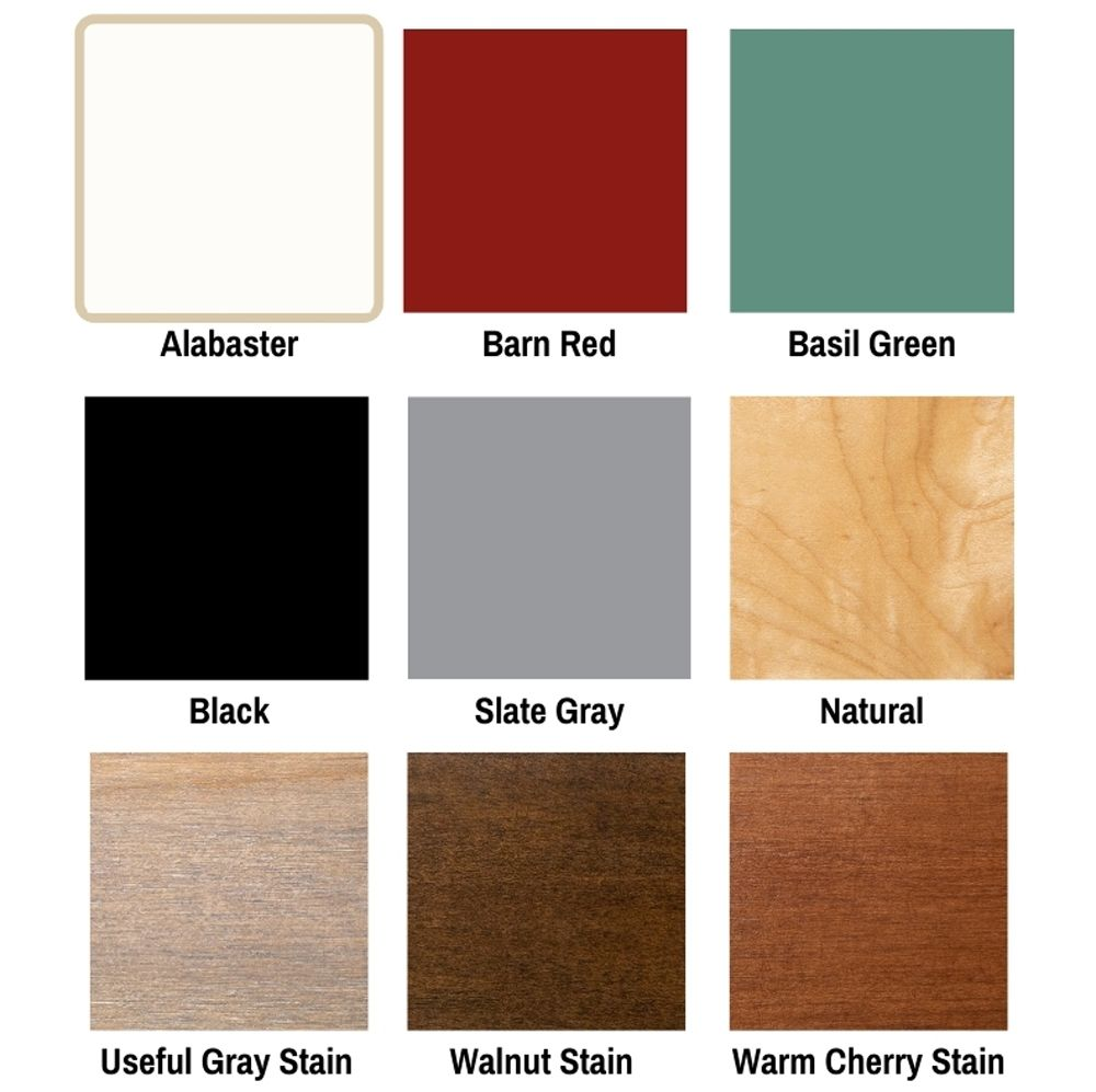 Wood Samples of Boos Butcher Block & Table Base Colors